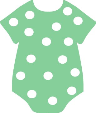 Green Polka Dot Onesie