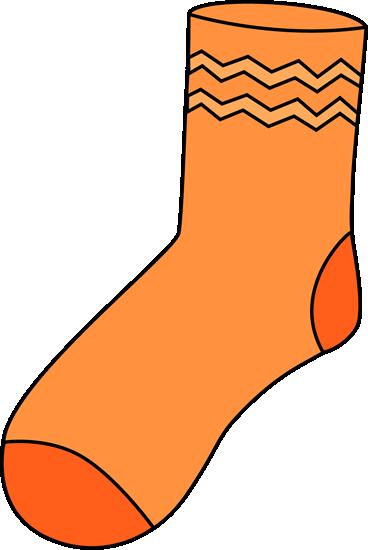 Orange Sock Clip Art