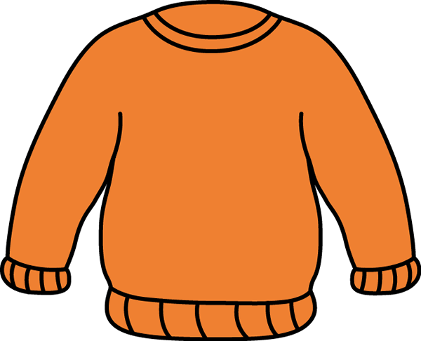 Orange Sweater Clip Art