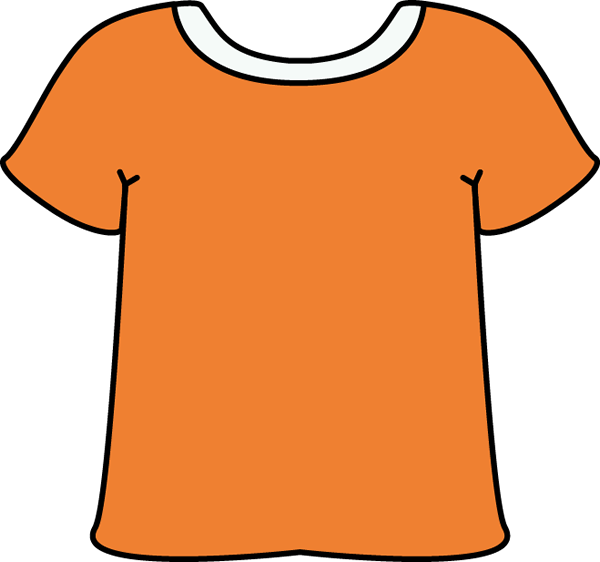 Orange Tshirt with a White Collar