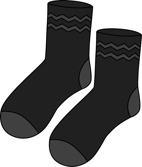 Pair of Black Socks Clip Art