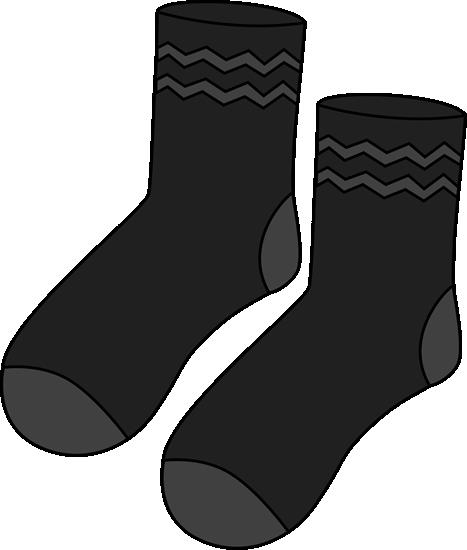 Pair of Black Socks Clip Art