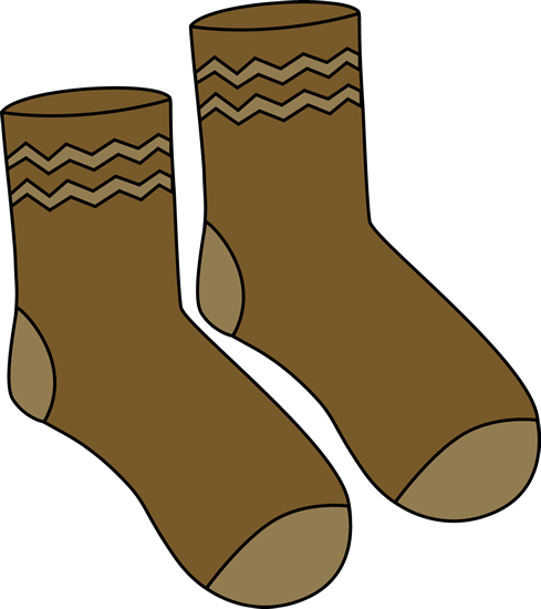 Brown Pair of Socks Clip Art - Brown Pair of Socks Image