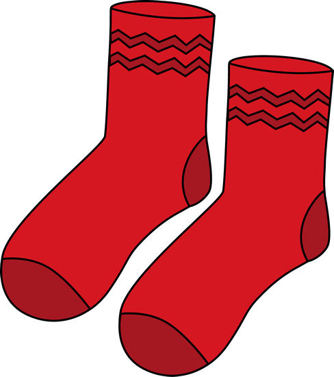 Red Pair of Socks Clip Art