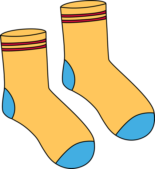 Pair of Yellow Socks Clip Art - Pair of Yellow Socks Image