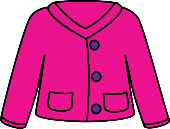 Pink Cardigan Sweater Clip Art