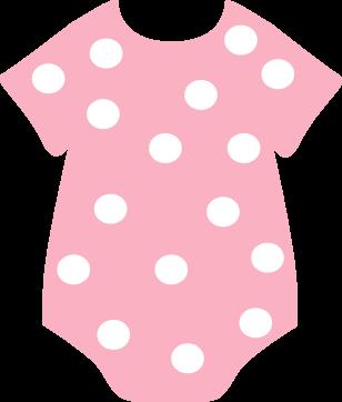 Pink Polka Dot Onesie