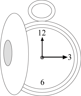 Black and White Pocket Watch