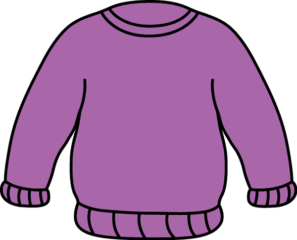 Purple Sweater Clip Art