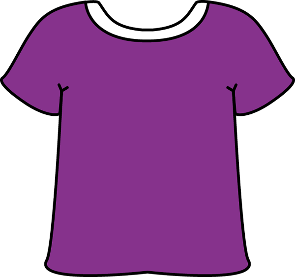 Purple Tshirt with a White Collar