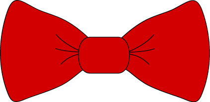 red bow tie clip art red bow tie image