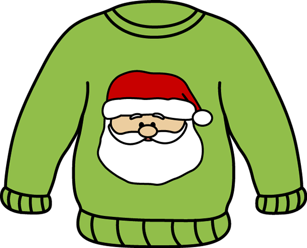 Santa Sweater Clip Art