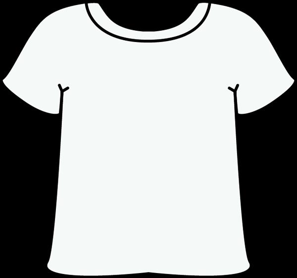 White tshirt clip art white tshirt image for Black and white short sleeve shirts