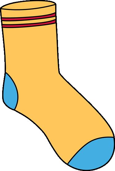 Yellow Sock Clip Art