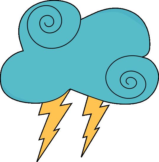 Dark Blue Swirly Cloud and Lightning