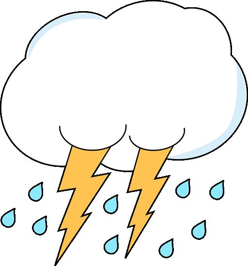 Lightning and Rain Cloud