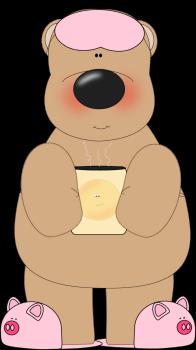 Bear Drinking Coffee
