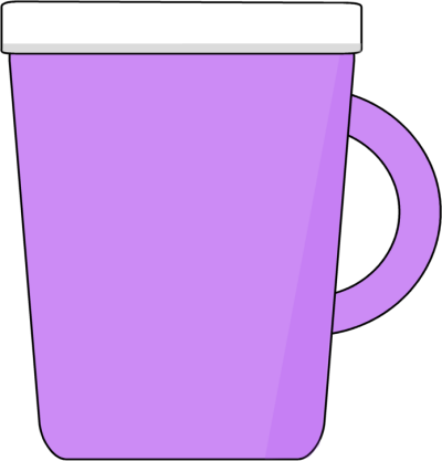 cute mug clipart. purple coffee mug cute clipart