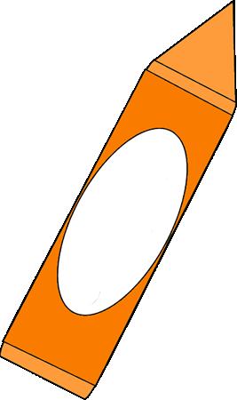 Big Orange Crayon Clip Art