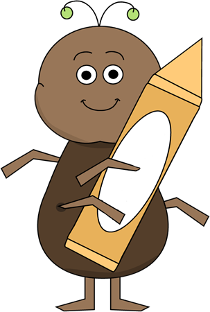 Bug Holding Crayon