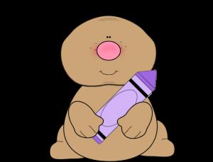 Dog with Purple Crayon