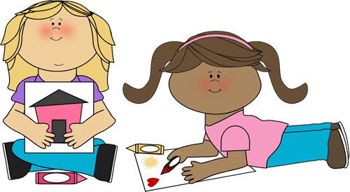 Kids Coloring Clip Art - Kids Coloring Image