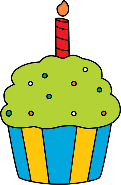 birthday cupcake clip art birthday cupcake image rh mycutegraphics com birthday cupcake clipart birthday cupcake clipart images