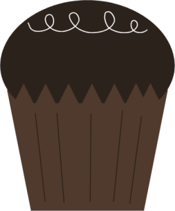 Chocolate Cupcake Clipart Image