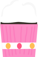 Pink and White Cupcake