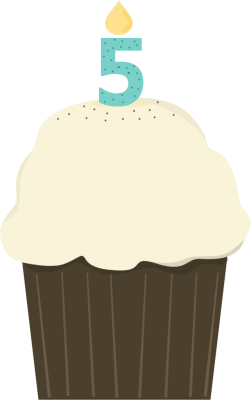 Fifth Birthday Cupcake