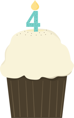 Fourth Birthday Cupcake