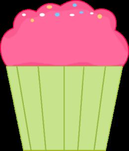 Pink Cupcake Clip Art Image
