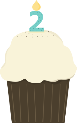 Second Birthday Cupcake