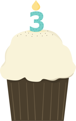 Third Birthday Cupcake
