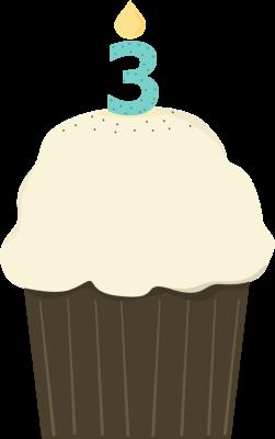 Third Birthday Cupcake