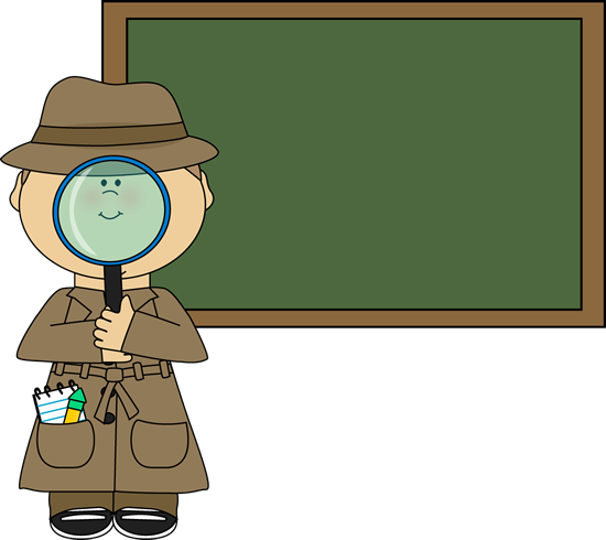 Boy Detective and Chalkboard