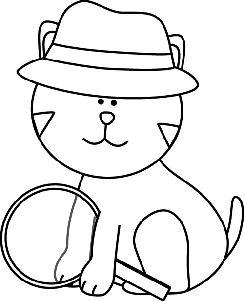 Black and White Detective Cat