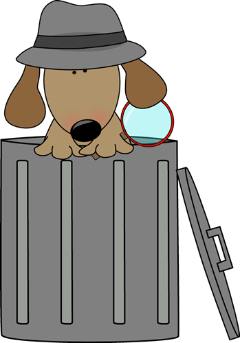 dog looking for clues in a trash can clip art dog looking for rh mycutegraphics com Waiting Clip Art Relax Clip Art