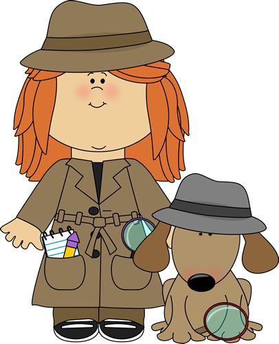 Girl Detective with Dog