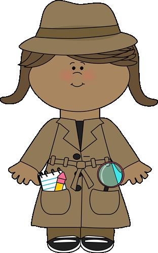 Little Girl Detective Clip Art - Little Girl Detective Image