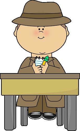 School Detective Clip Art - School Detective Image