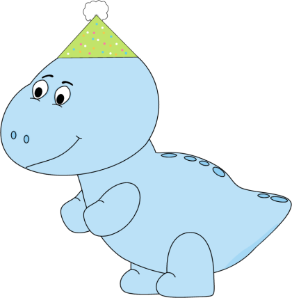 Blue Dinosaur Party Hat