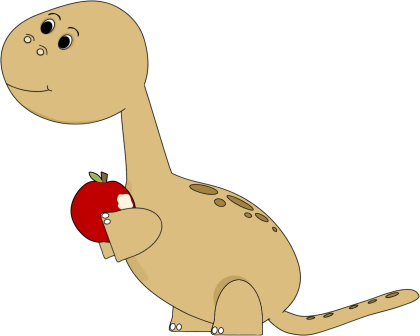 Dinosaur Eating Apple