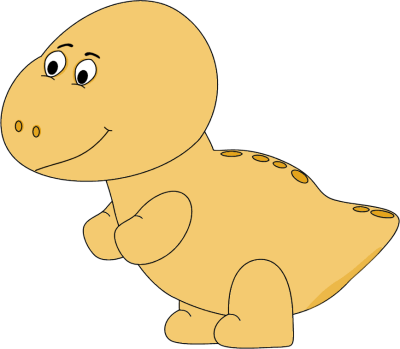 Yellow Baby Dinosaur