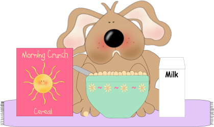 Dog Eating Cereal