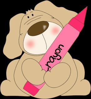 Dog Holding a Crayon