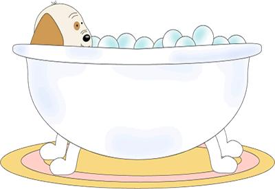 Baby Dog Taking A Bath Clip Art Baby Dog Taking A Bath Image