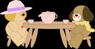 Dogs Having Tea