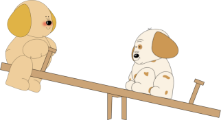Puppies on a Teeter Totter