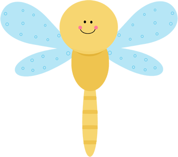 Cute Yellow Dragonfly
